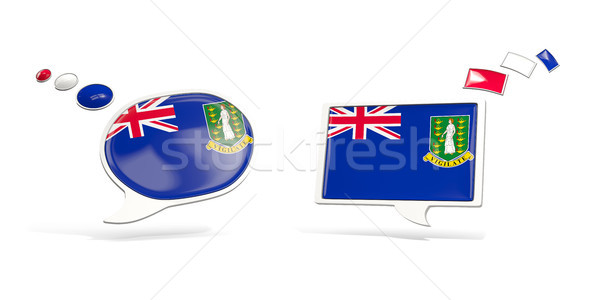 Two chat icons with flag of virgin islands british Stock photo © MikhailMishchenko