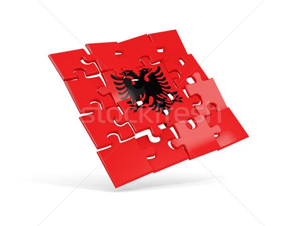 Puzzle flag of albania isolated on white Stock photo © MikhailMishchenko
