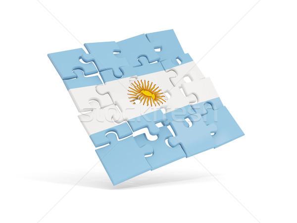 Puzzle pavillon Argentine isolé blanche 3d illustration Photo stock © MikhailMishchenko