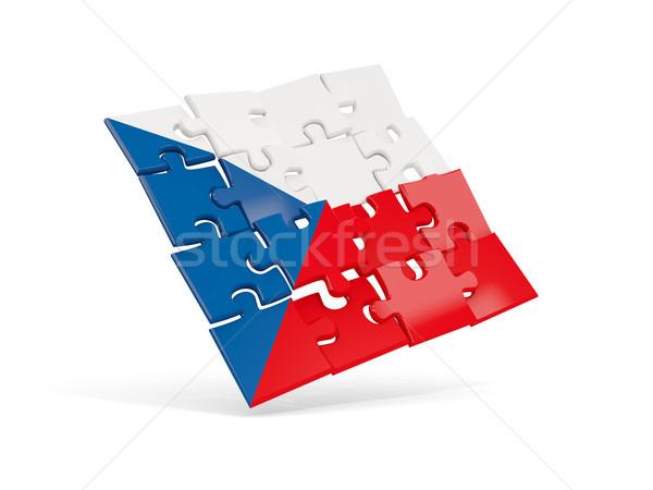Puzzle flag of czech republic isolated on white Stock photo © MikhailMishchenko