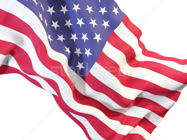 Waving flag of united states of america Stock photo © MikhailMishchenko