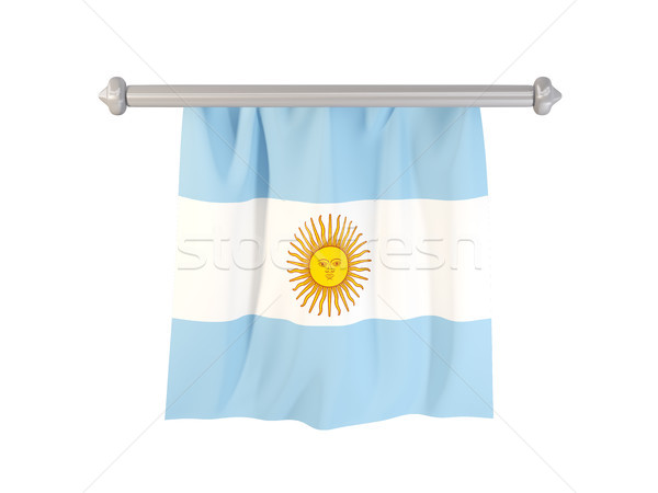 флаг Аргентина изолированный белый 3d иллюстрации Label Сток-фото © MikhailMishchenko