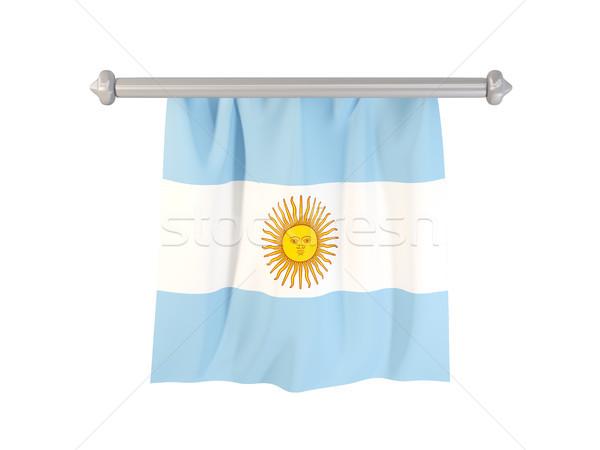 Vlag Argentinië geïsoleerd witte 3d illustration label Stockfoto © MikhailMishchenko