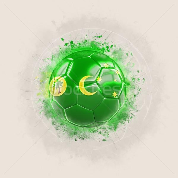Grunge football with flag of cocos islands Stock photo © MikhailMishchenko