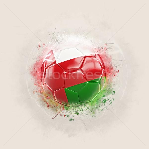 Гранж футбола флаг Оман 3d иллюстрации Мир Сток-фото © MikhailMishchenko