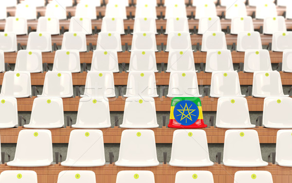 Stadion siedziba banderą Etiopia rząd biały Zdjęcia stock © MikhailMishchenko