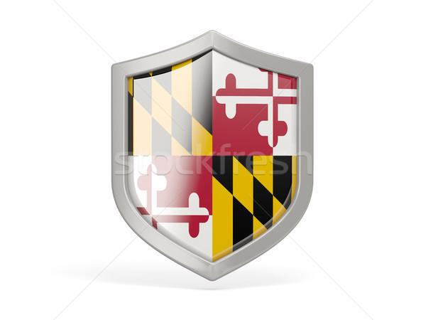Shield icon with flag of maryland. United states local flags Stock photo © MikhailMishchenko