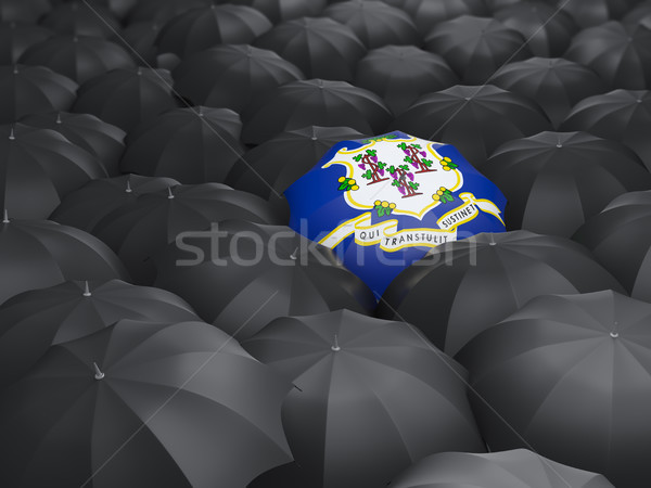 connecticut state flag on umbrella. United states local flags Stock photo © MikhailMishchenko