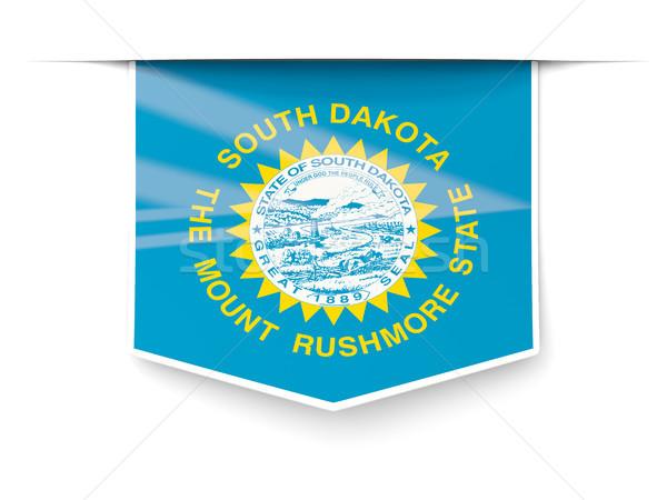 Dakota del Sur bandera cuadrados etiqueta sombra Estados Unidos Foto stock © MikhailMishchenko