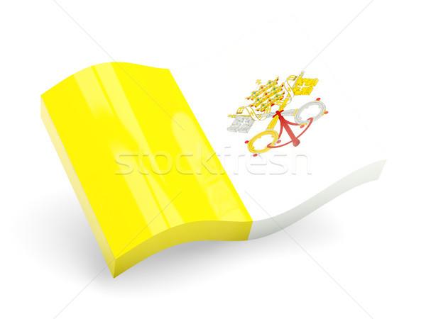 3D banderą Watykan odizolowany biały podróży Zdjęcia stock © MikhailMishchenko