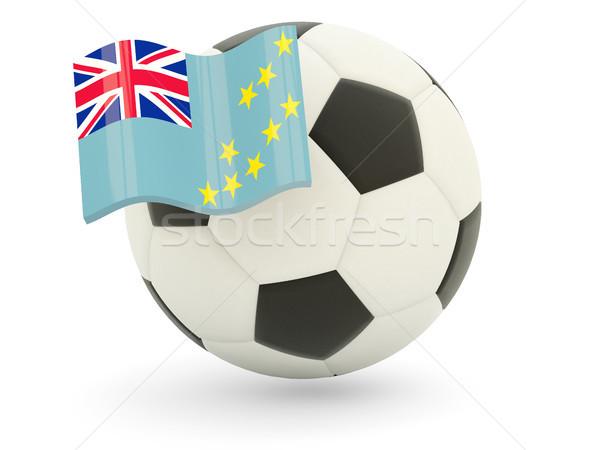 Futebol bandeira Tuvalu isolado branco esportes Foto stock © MikhailMishchenko