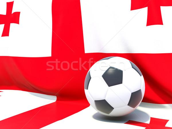 Zászló Grúzia futball csapat vidék Stock fotó © MikhailMishchenko