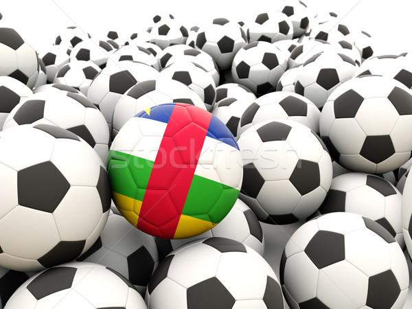 футбола флаг центральный африканских республика регулярный Сток-фото © MikhailMishchenko