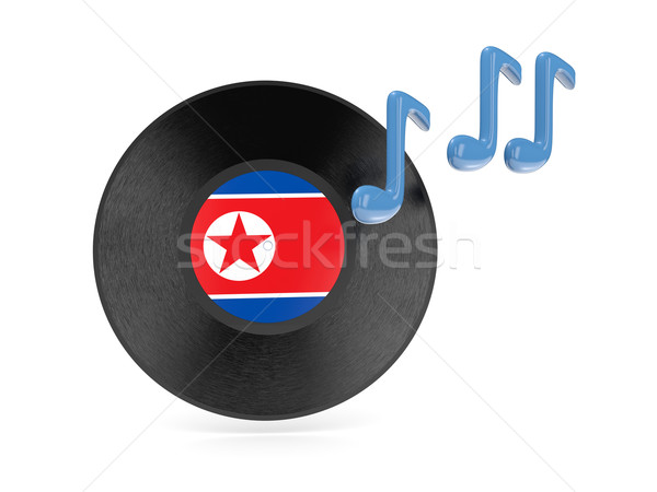 Vinyl disk with flag of north korea Stock photo © MikhailMishchenko