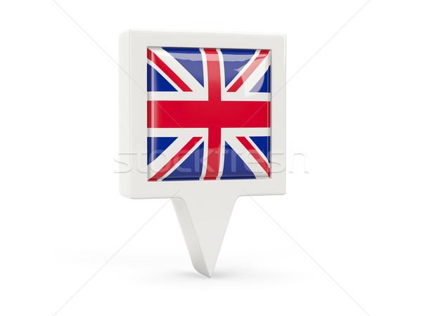 Piazza bandiera icona Regno Unito isolato bianco Foto d'archivio © MikhailMishchenko