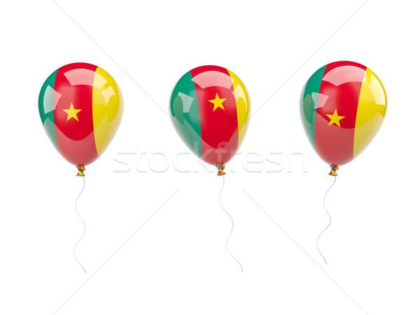 воздуха шаров флаг Камерун изолированный белый Сток-фото © MikhailMishchenko
