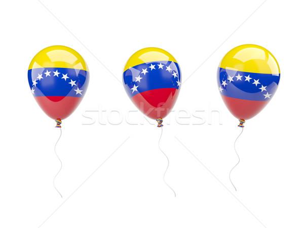 Ar balões bandeira Venezuela isolado branco Foto stock © MikhailMishchenko