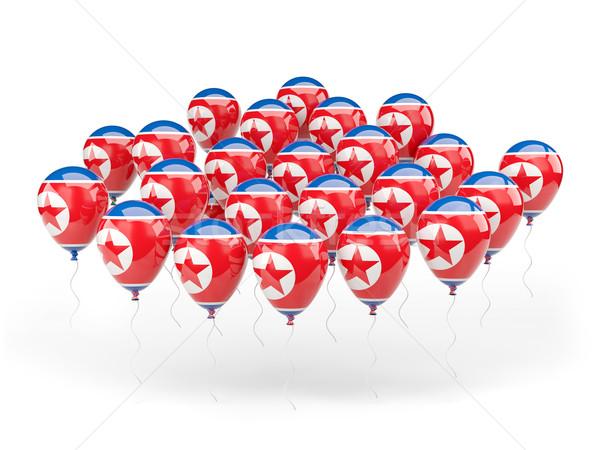 Balloons with flag of north korea Stock photo © MikhailMishchenko