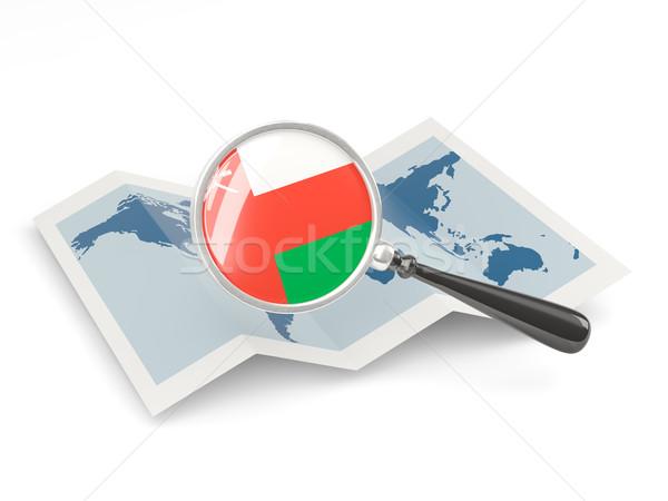 флаг Оман карта путешествия Сток-фото © MikhailMishchenko