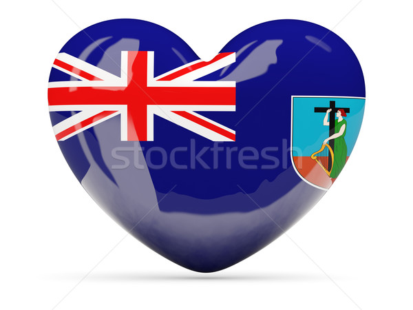 Heart shaped icon with flag of montserrat Stock photo © MikhailMishchenko