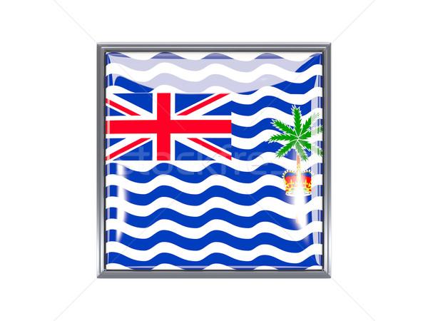 Square icon with flag of british indian ocean territory Stock photo © MikhailMishchenko
