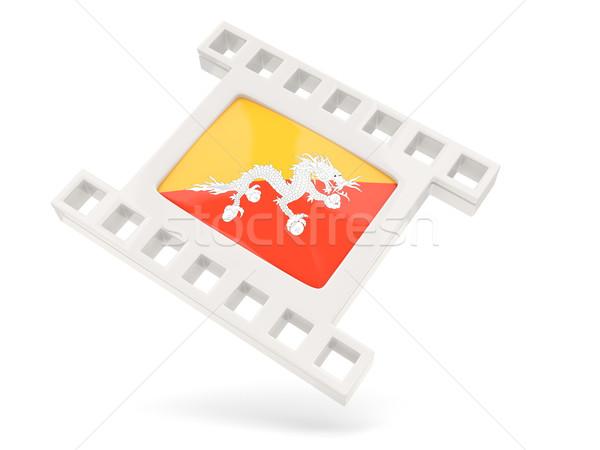 Film icon vlag Bhutan geïsoleerd witte Stockfoto © MikhailMishchenko