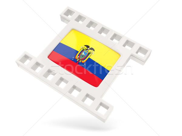 Movie icon with flag of ecuador Stock photo © MikhailMishchenko