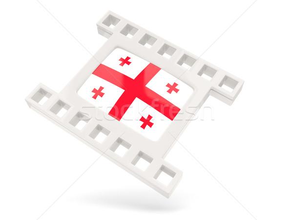 Film ikon zászló Grúzia izolált fehér Stock fotó © MikhailMishchenko