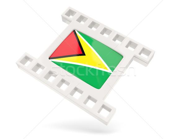 Film ikon zászló Guyana izolált fehér Stock fotó © MikhailMishchenko