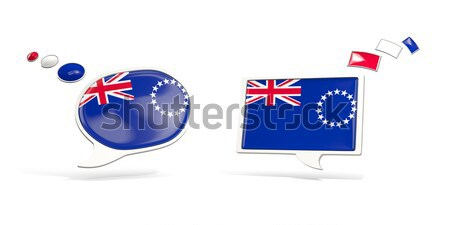 Square metal button with flag of new zealand Stock photo © MikhailMishchenko