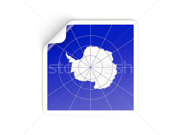Square sticker with flag of antarctica Stock photo © MikhailMishchenko