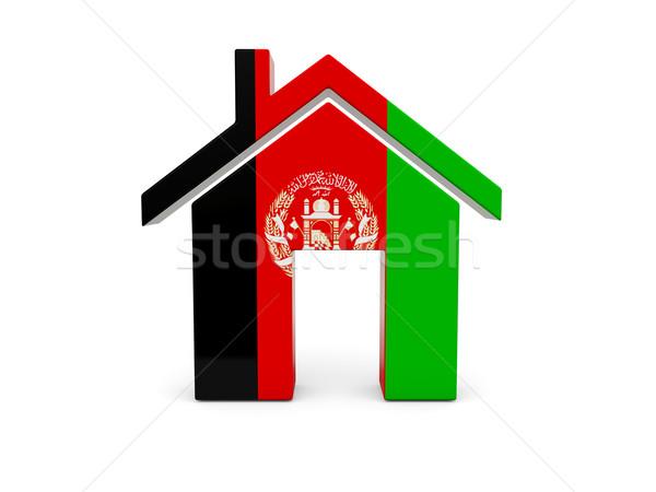 Otthon zászló Afganisztán izolált fehér keresés Stock fotó © MikhailMishchenko