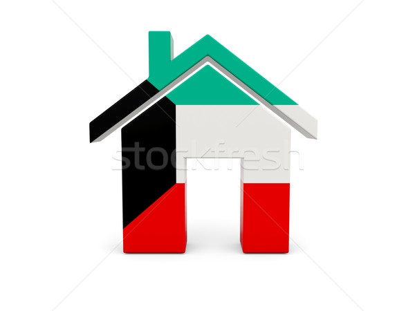 домой флаг Кувейт изолированный белый поиск Сток-фото © MikhailMishchenko