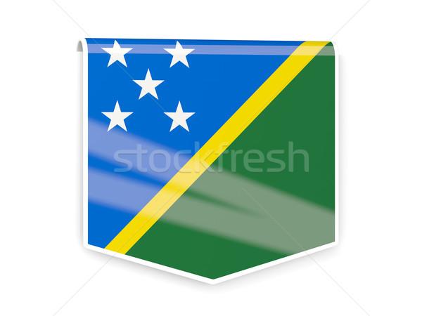 Flag label of solomon islands Stock photo © MikhailMishchenko