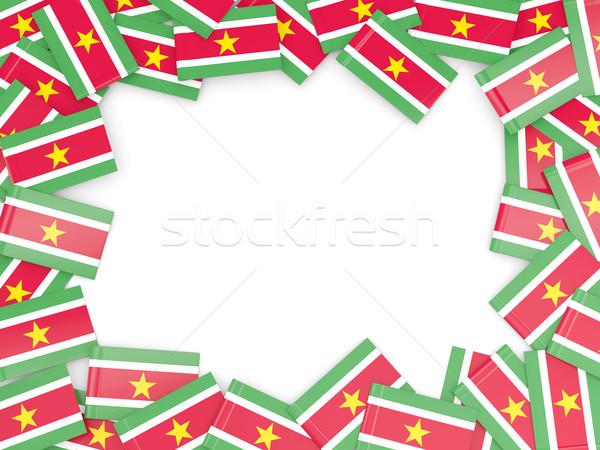 кадр флаг Суринам изолированный белый Сток-фото © MikhailMishchenko