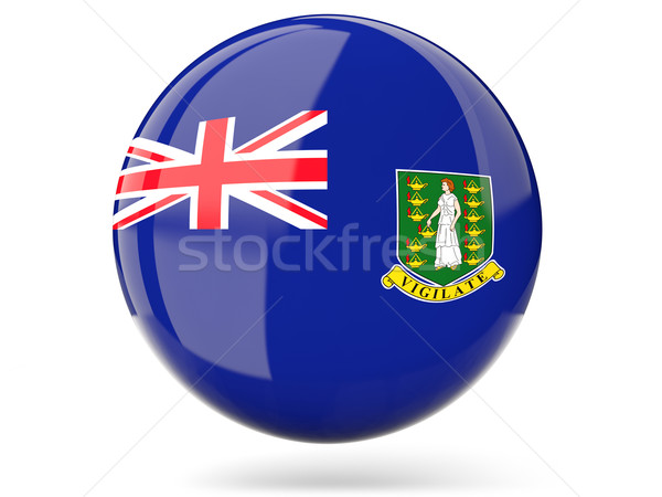 Icon vlag Virgin Islands brits glanzend teken Stockfoto © MikhailMishchenko