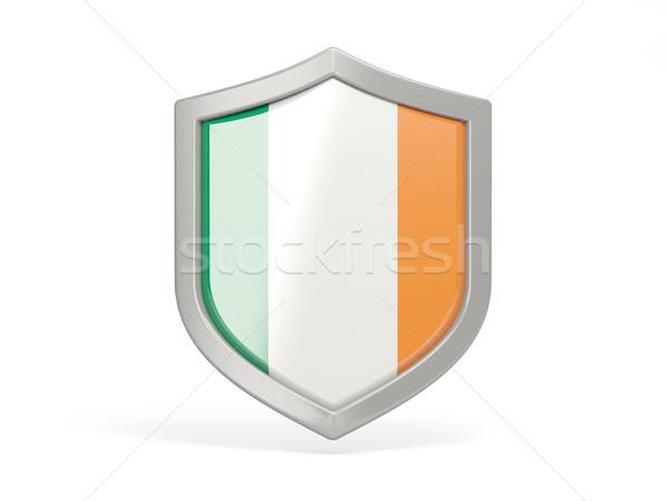 Shield icon with flag of ireland Stock photo © MikhailMishchenko