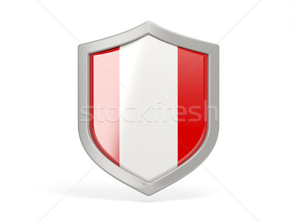Shield icon with flag of peru Stock photo © MikhailMishchenko