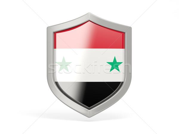 Schild icon vlag Syrië geïsoleerd witte Stockfoto © MikhailMishchenko