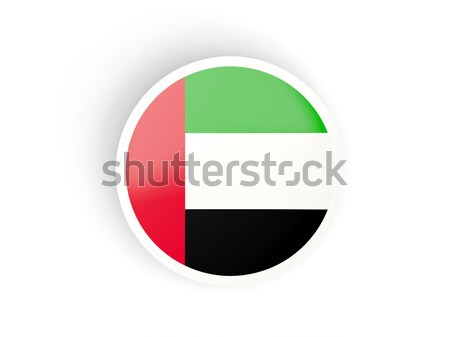 Matrica zászló Egyesült Arab Emírségek izolált fehér utazás Stock fotó © MikhailMishchenko