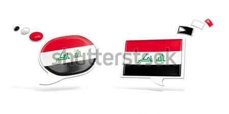 Amor Iraque assinar isolado branco coração Foto stock © MikhailMishchenko