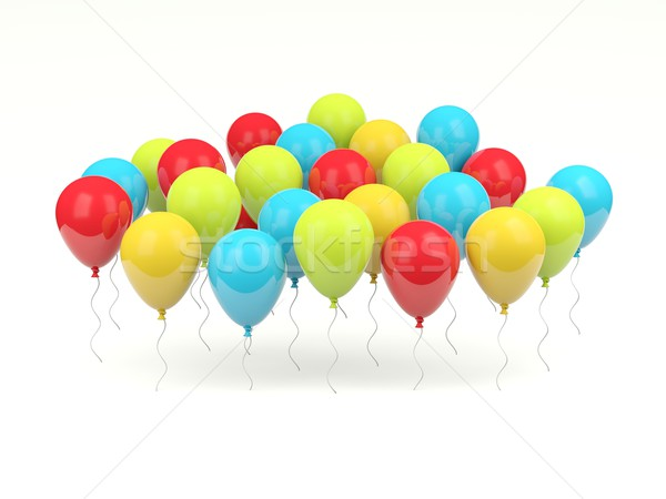 Stock foto: Glänzend · Luft · Ballons · isoliert · weiß · Party