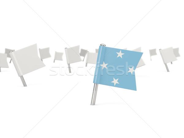 広場 ピン フラグ ミクロネシア 孤立した 白 ストックフォト © MikhailMishchenko