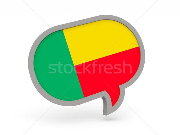 Chat icona bandiera Benin isolato bianco Foto d'archivio © MikhailMishchenko