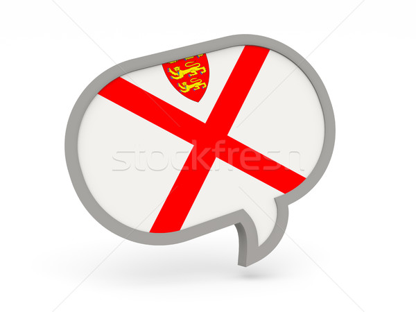 Chat icon with flag of jersey Stock photo © MikhailMishchenko