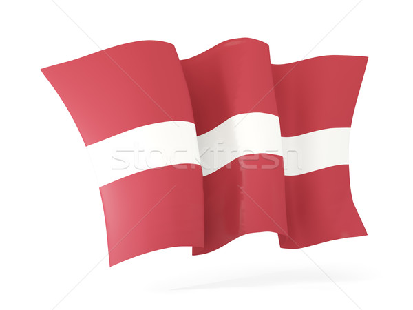Vlag Letland 3d illustration geïsoleerd witte Stockfoto © MikhailMishchenko