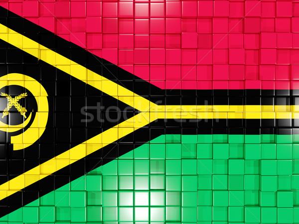 Praça bandeira Vanuatu ilustração 3d mosaico Foto stock © MikhailMishchenko