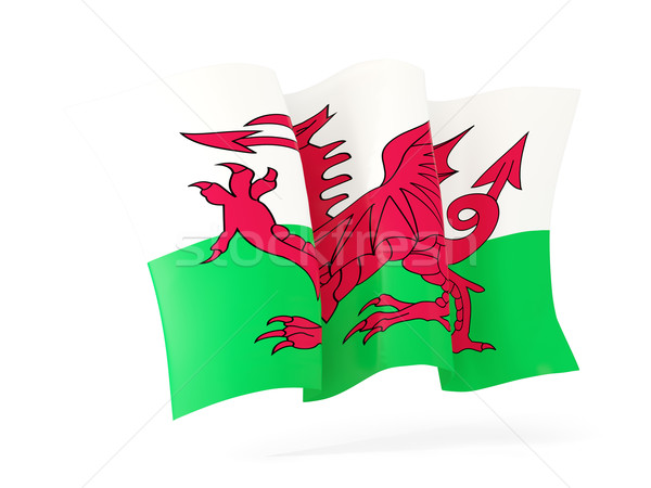 Vlag wales 3d illustration geïsoleerd witte Stockfoto © MikhailMishchenko