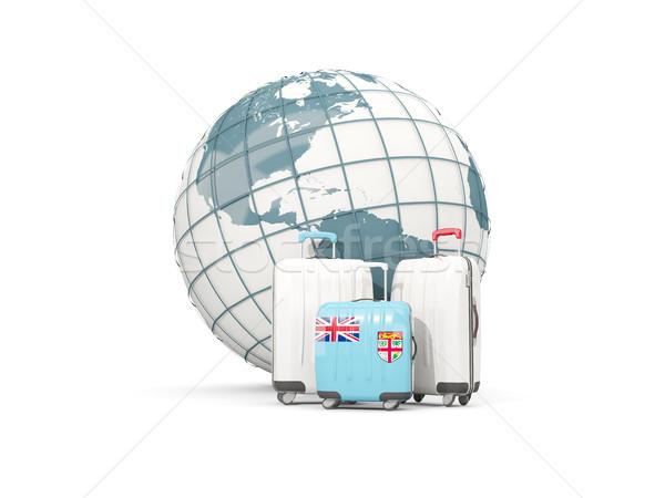 荷物 フラグ 3  袋 世界中 3次元の図 ストックフォト © MikhailMishchenko