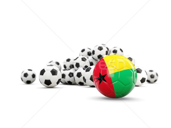 Football with flag of guinea bissau isolated on white Stock photo © MikhailMishchenko